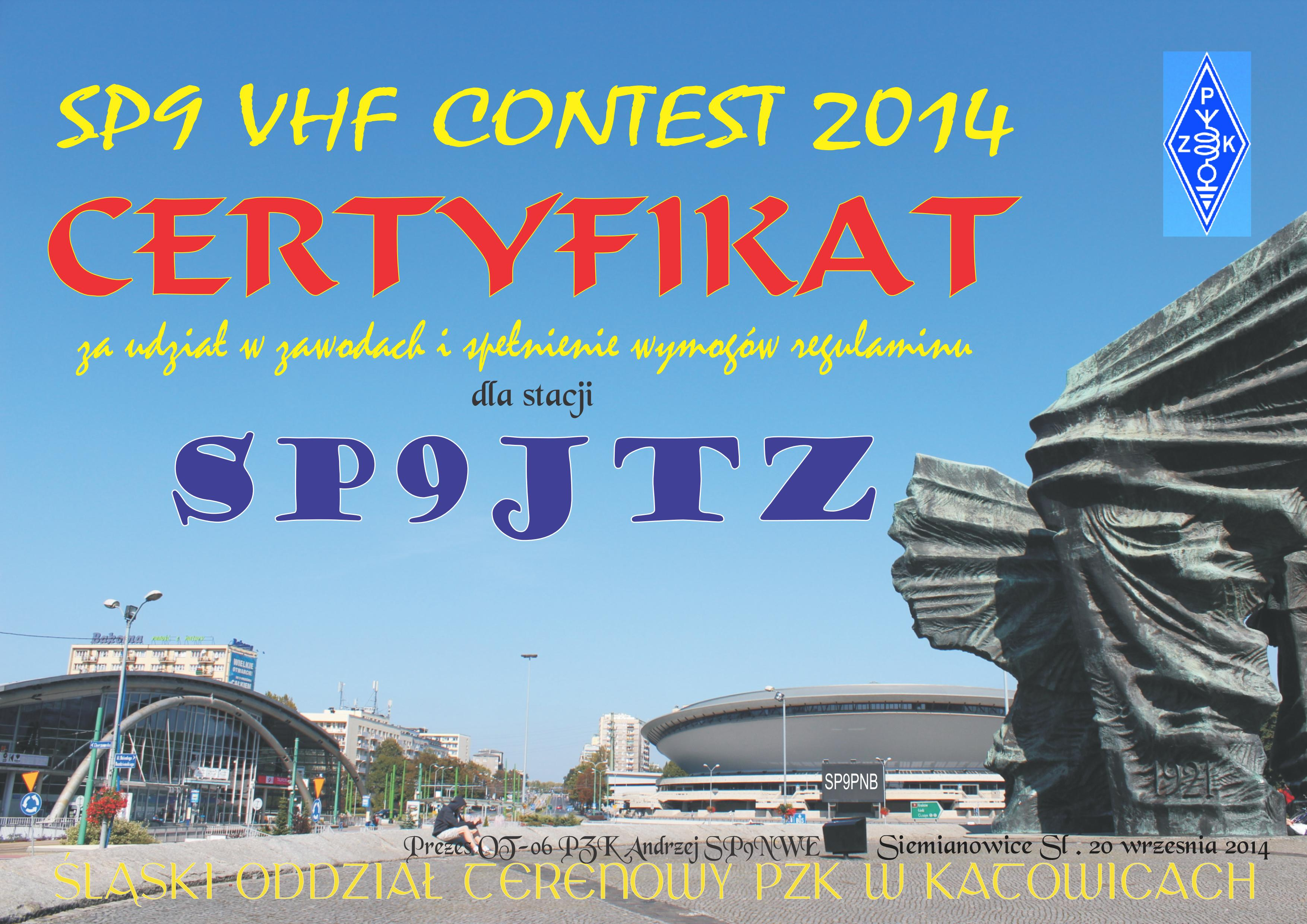 SP9 VHF Contest2014